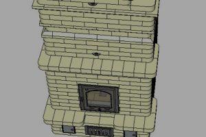 Проект каминопечи 5*4,5 кирпича