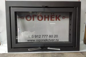 Дверца для камина с огнеупорным стеклом